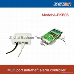 cost saving 6 Port security anti-theft alarm controller for Cell phone/Tablet pc