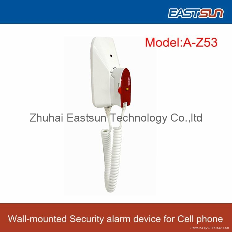 Wall-mounted/desktop Security alarm device for Cell phone
