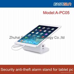 平板電腦安全展示白色亞克力支架配充電報警功能一體防盜器
