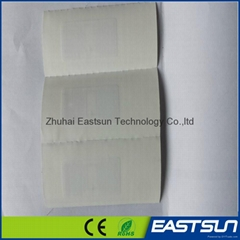 Custom UHF RFID low price woven sewing label RFID clothes label