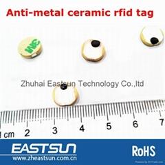 定製RFID標籤圓形陶瓷抗金屬標籤電力箱電力設施工具等管理