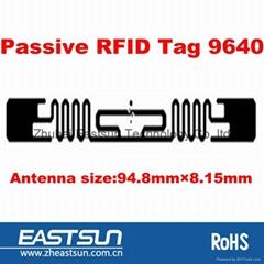 860-960MHz被動rfid標籤9640嵌入式RFID零售行業標籤