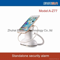 White color ABS material security alarm display stand for phone&tablet