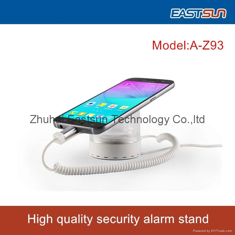 For SAMSUNG SHOP Acrylic charging and alarm mobile security display stand