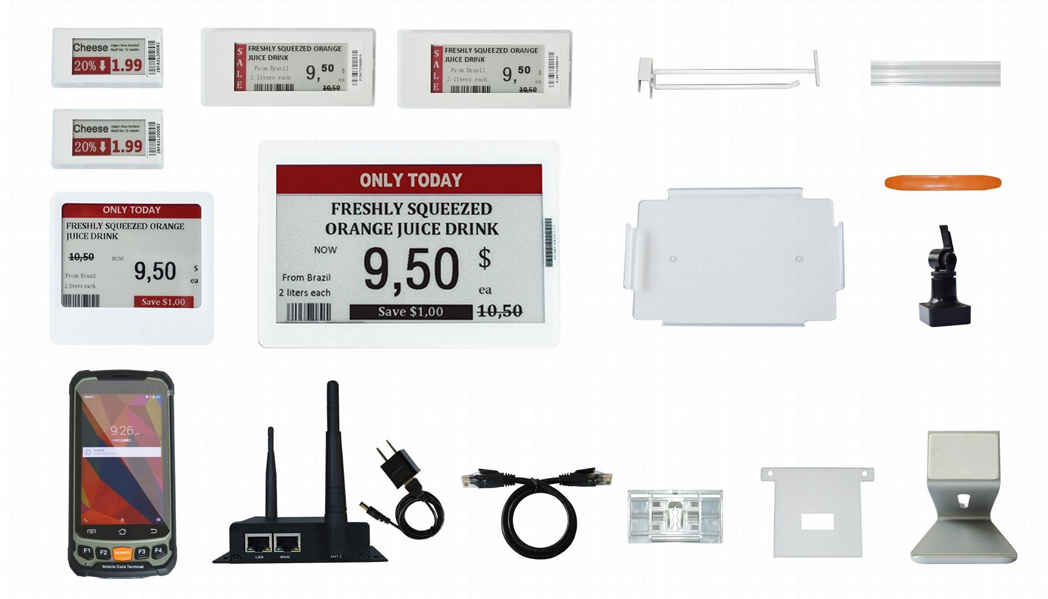 Electronic shelf label  e-paper price tag ESL demo kit for customer testing  3