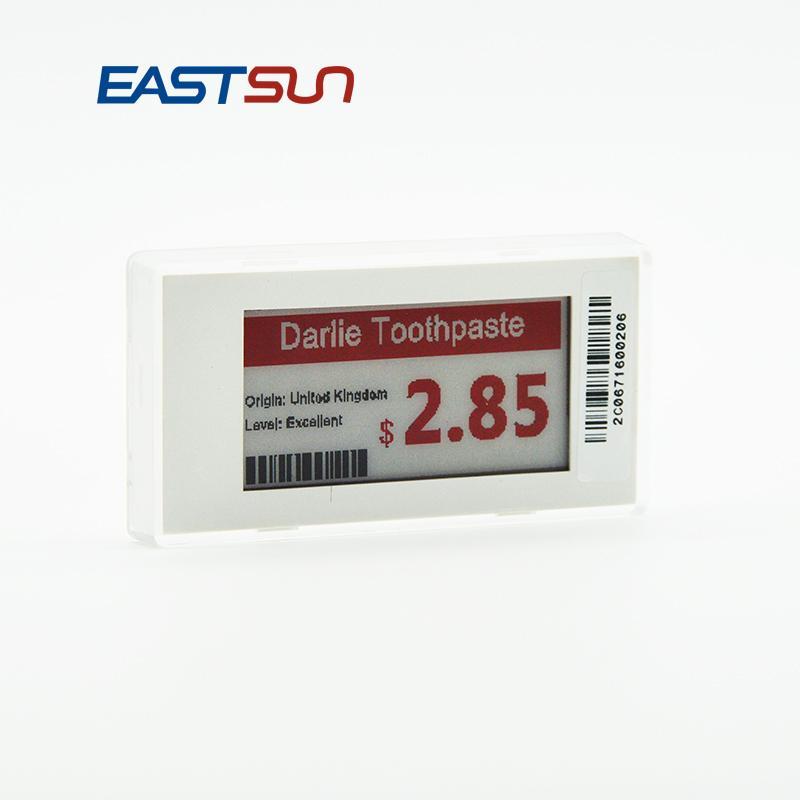 """无线电子墨水2.1""""超市价格标签节省成本 1"""