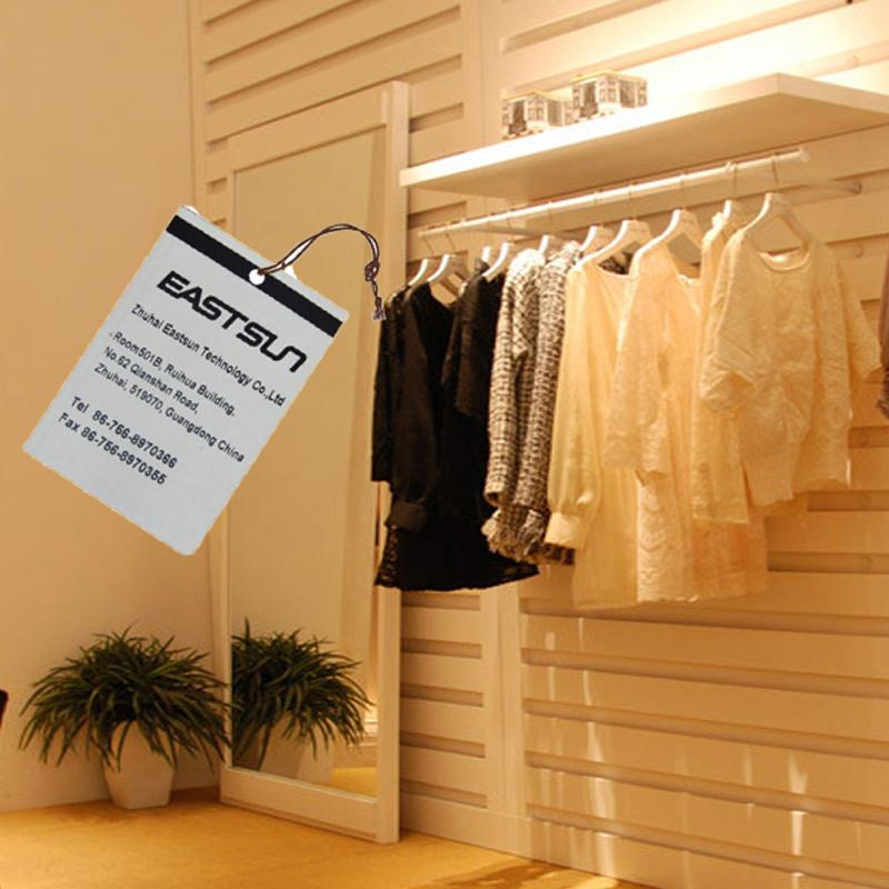 840-960MHZ paper labels garment hang tags for shopping mall 3