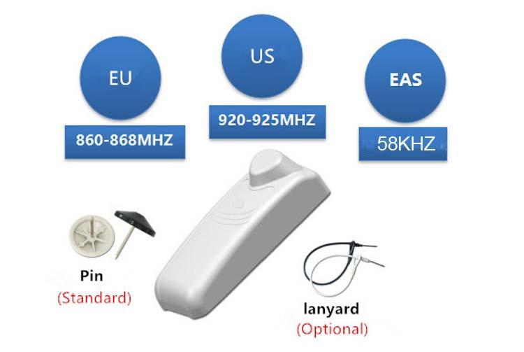 EAS声磁 防盗系统 商品 电子标签 结合 UHF超高频 服装 RFID标签 4