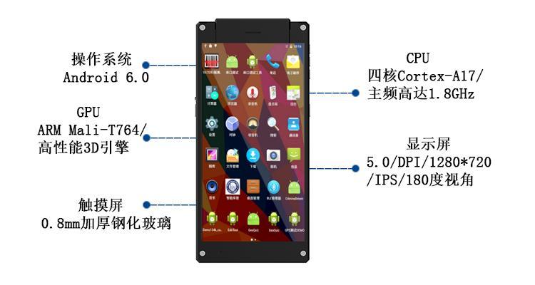 簡約時尚UHF超高頻手持式PDA數據採集終端RFID手持機潮流式讀寫器 9