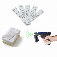 超高频UHF服装柔性无纺布耐高温rfid洗涤电子标签耐高温洗衣标签