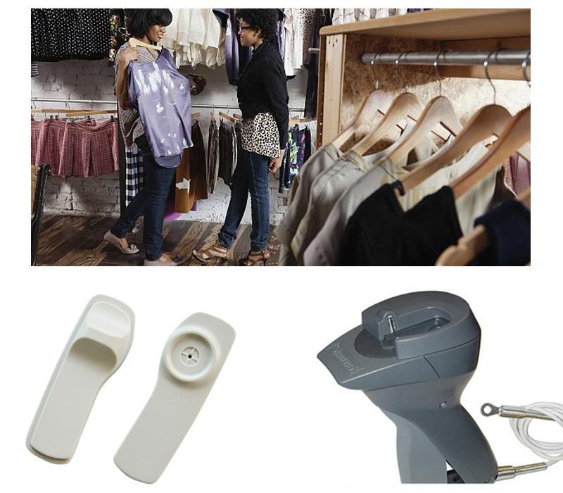 RFID标签用于声磁防盗系统的衣服标签智能管理