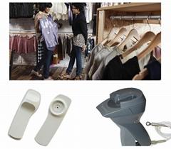 RFID標籤用於聲磁防盜系統的衣服標籤智能管理