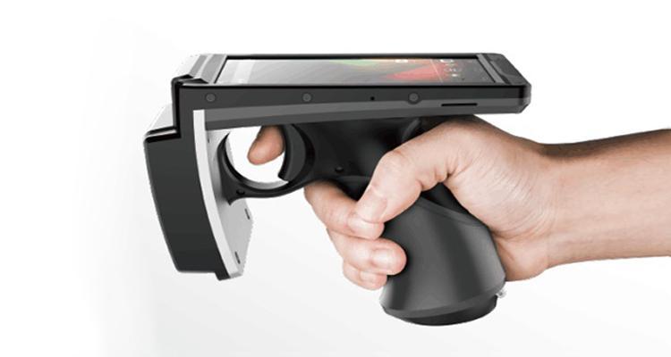 UHF手持式PDA數據採集終端工業級小巧便攜式RFID讀寫器讀取達5米 1