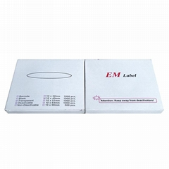 EM magnetic strip barcode label security system used in libraries management