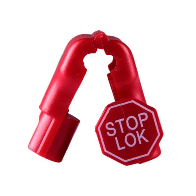 防盜挂鉤小紅鎖 超市貨架 手機數碼挂鉤防盜鎖頭 塑料防盜扣 10
