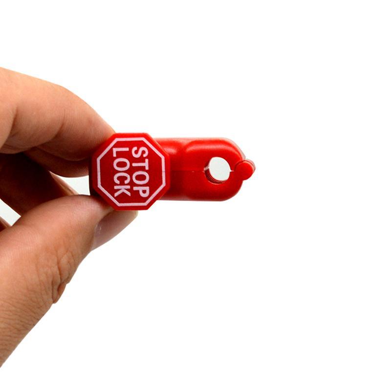 防盜挂鉤小紅鎖 超市貨架 手機數碼挂鉤防盜鎖頭 塑料防盜扣 12