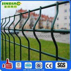 Powder coated fence panels