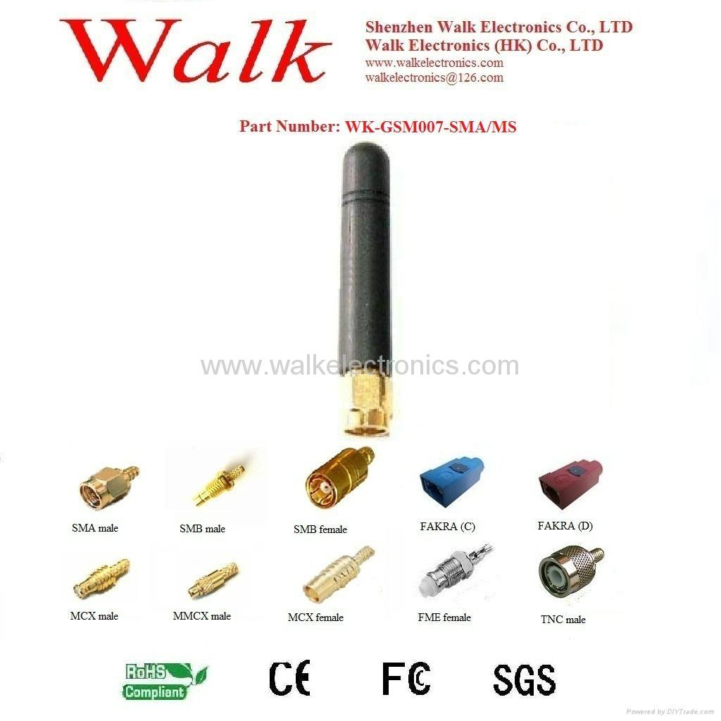 sma GSM/GPRS/AMPS Quad Band Antenna(WK-GSM007-SMA/MS) 1