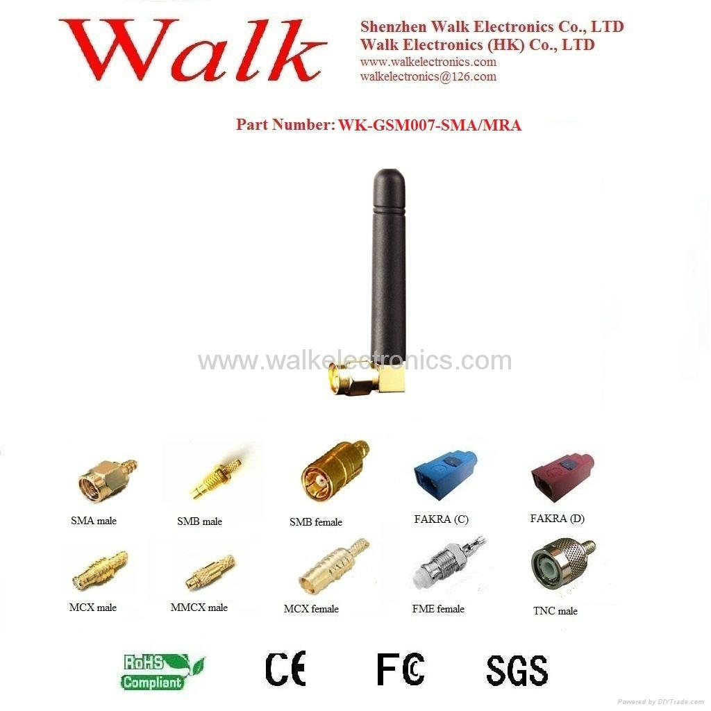 sma GSM/GPRS/AMPS Quad Band rubber Antenna(WK-GSM007-SMA/MRA) 1