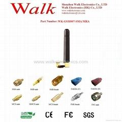 sma GSM/GPRS/AMPS Quad Band rubber Antenna(WK-GSM007-SMA/MRA)