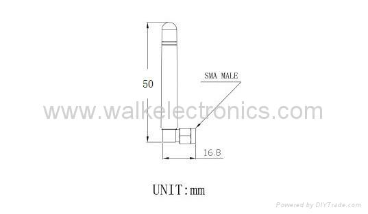 sma GSM/GPRS/AMPS Quad Band rubber Antenna(WK-GSM007-SMA/MRA) 2