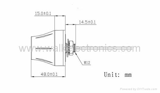 waterproof screw mount high gain GPS GLONASS Active Antenna(WK-GPS/GN006-SMA) 2