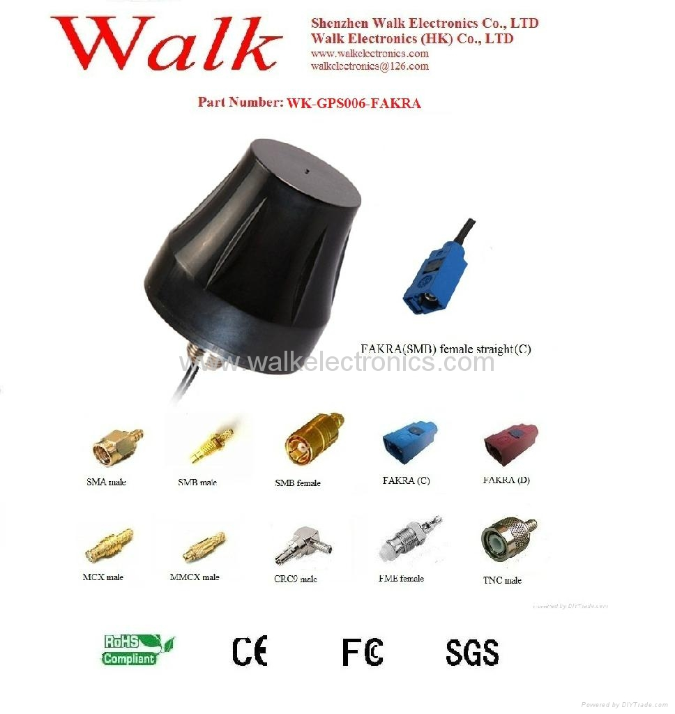 external screw mount high gain GPS Active Antenna(WK-GPS006-FAKRA) 1
