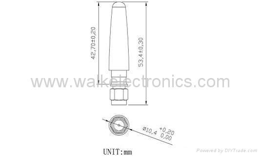 WiFi/2.4GHz sma male rubber Antenna(WK-WIFI006-SMA/MS) 2
