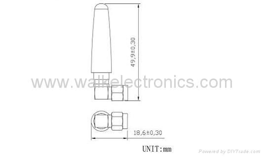 SMA male WiFi/2.4GHz rubber Antenna(WK-WIFI006-SMA/MRA) 2