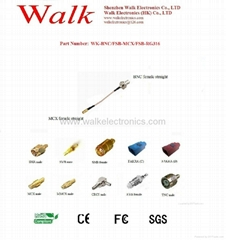 RF cable/Pigtails/Jumper cable/Interface Cable(WK-BNC/FSB-MCX/FSB-RG316)