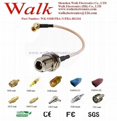 cable antenna/RF cable assembly/Jumper Cable: SMB female to N female straight