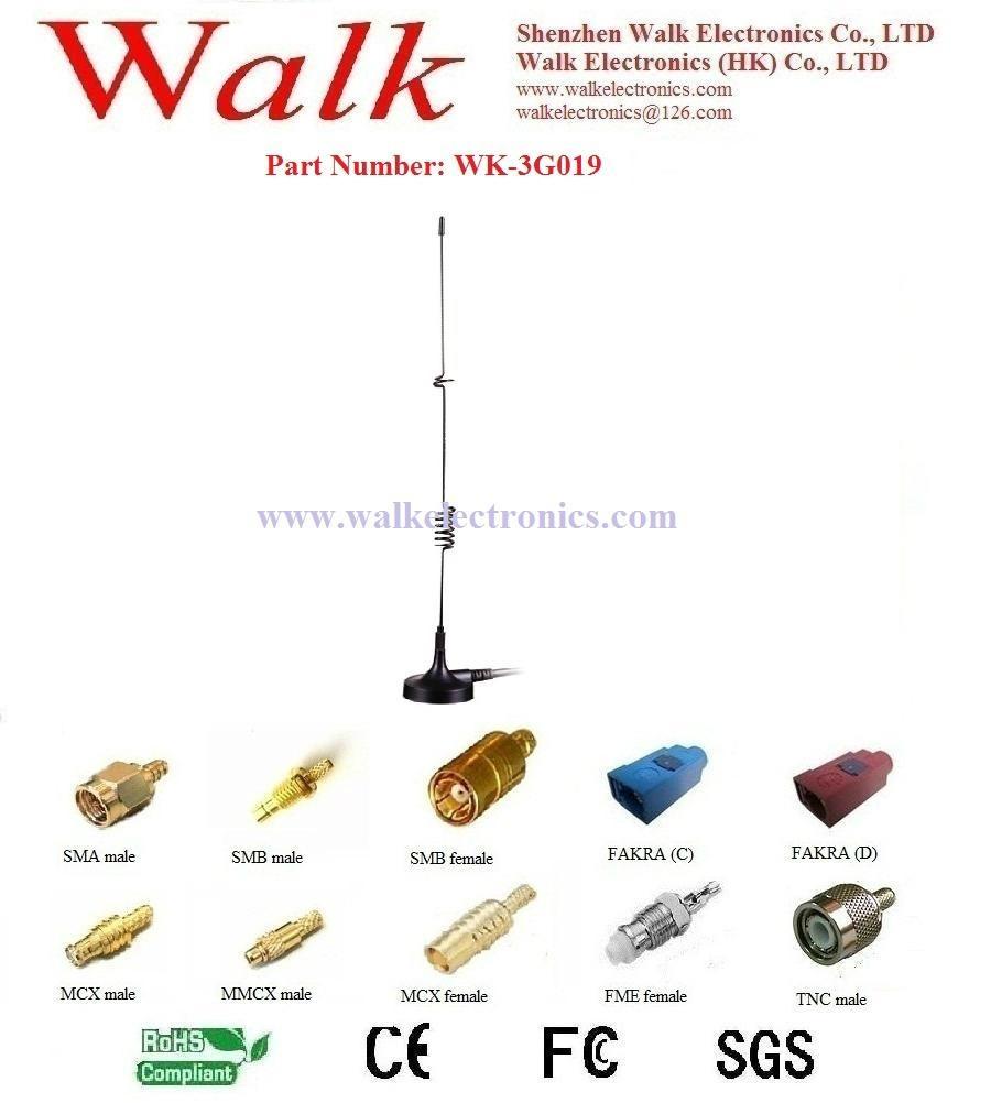 GSM 3G antenna: Multi band antenna, Whip car antenna, Magnetic mount 1