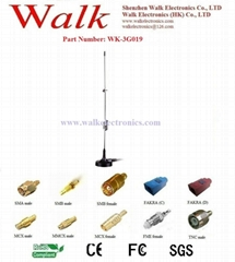 GSM 3G antenna: Multi band antenna, Whip car antenna, Magnetic mount