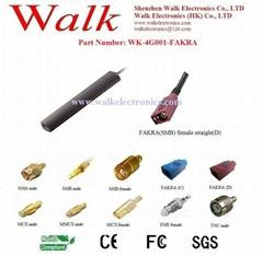 4G LTE Antenna: Multi band antenna, FAKRA female straight, adhesive mount