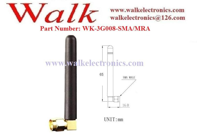 GSM 3G Antenna: Multi band antenna, Rubber antenna, SMA male(WK-3G008-SMA/MRA) 2