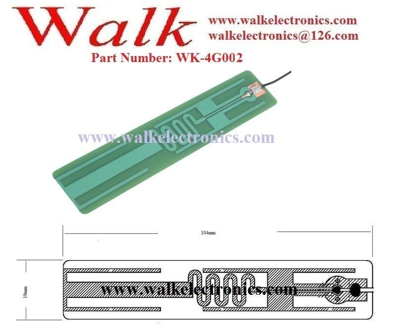 PCB 4G LTE Antenna: Multi band antenna, U.FL/IPEX, adhesive mount(WK-4G002) 2