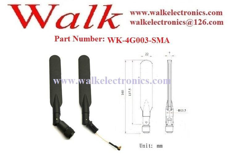Huawei ZTE 4G LTE Antenna, 4g antenna, SMA male straight rubber antenna 2