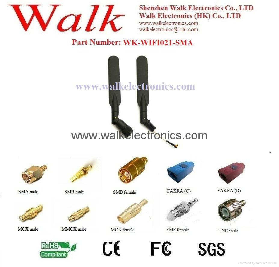 WiFi/2.4GHz /5.0-5.8GHz dual band Antenna(WK-WIFI021-SMA)