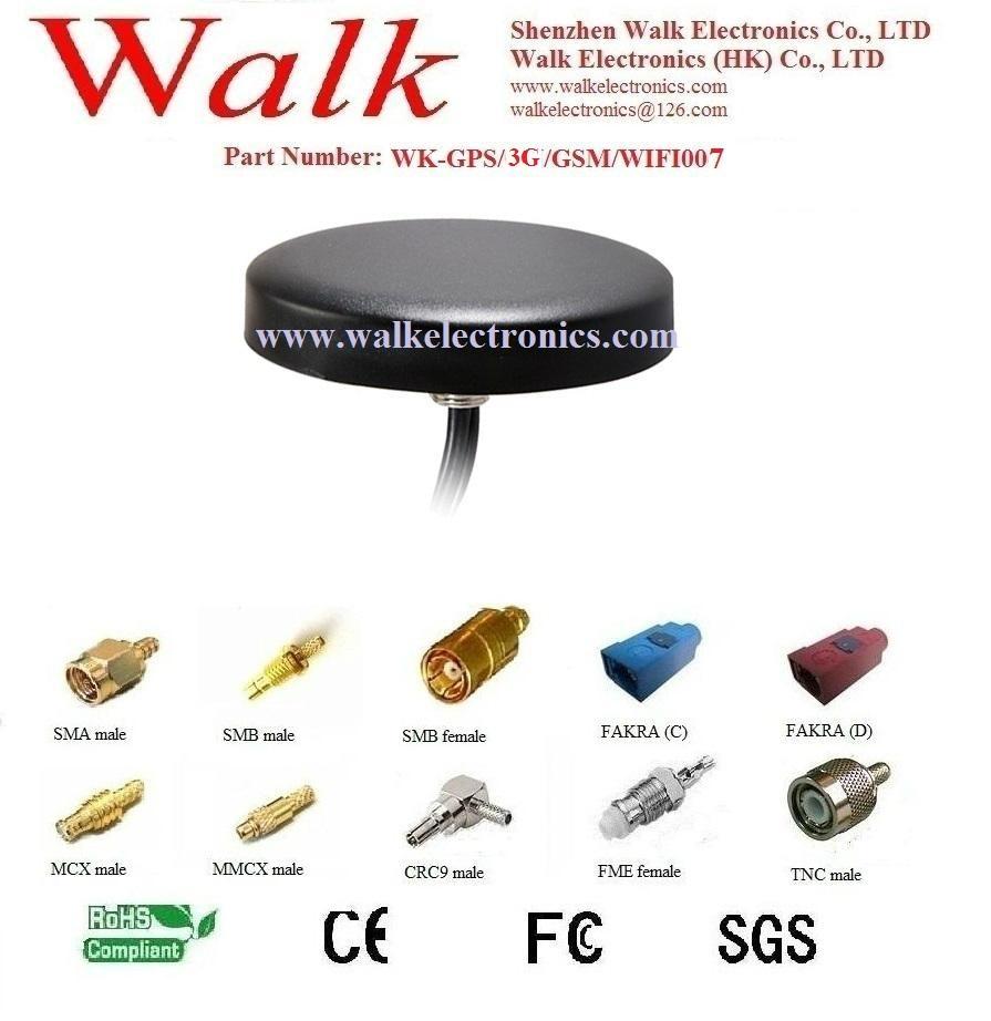 waterproof screw mount GPS 3G GSM WIFI Combo Antenna, gps gsm wifi antenna 1