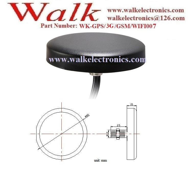 waterproof screw mount GPS 3G GSM WIFI Combo Antenna, gps gsm wifi antenna 2