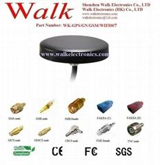 GPS Glonass 3G GSM WIFI Combo Antenna,Screw mount, waterproof