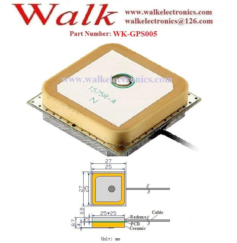 active GPS PCB antenna, gps internal antenna, gps built-in antenna, u.fl ipex  2