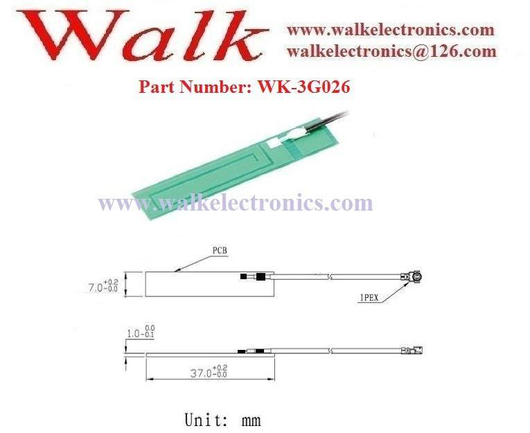 small size GSM 3G pcb Antenna, GSM PCB antenna, 3g built in antenna, u.fl 2