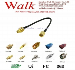 sma male sma female rg174 cable, sma rg174 gps antenna cable,sma extension cable