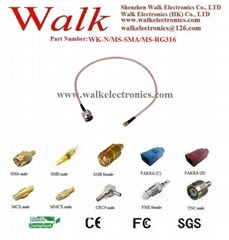 N male SMA male rg316 cable, N extension cable, SMA RG316 cable