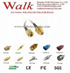 SMA female SMA male rg316 cable, SMA extension cable, SMA RG316 cable
