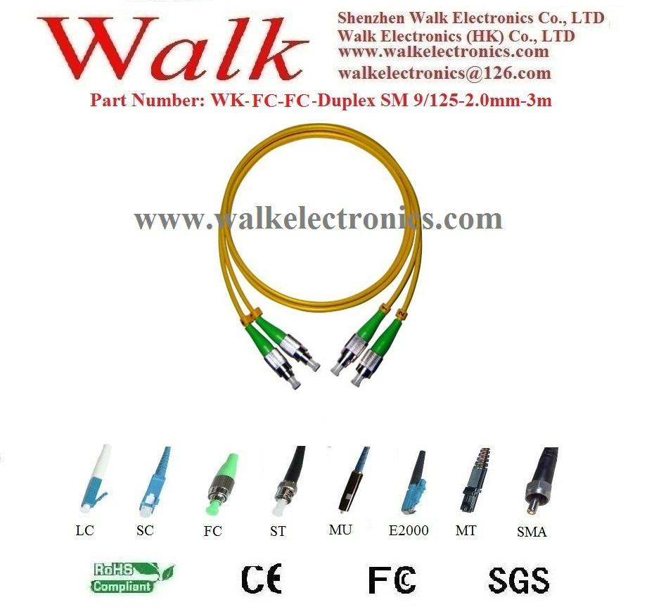 Optical Fiber Patch Cord, fiber jumper cable, duplex FC to FC, single mode 9/125 1