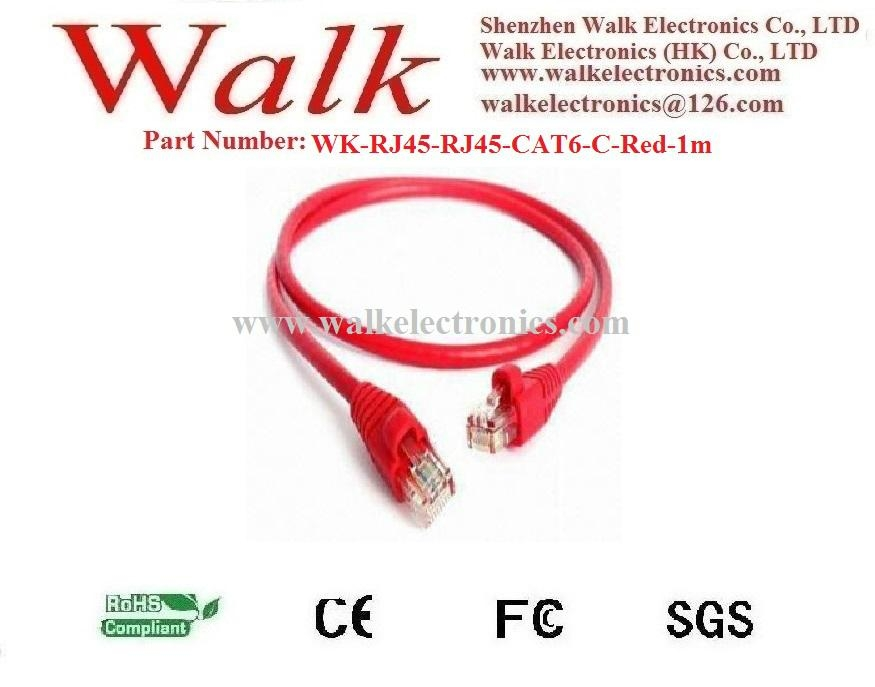 cat6 patch cable, network cable, ethernet cable, RJ45 to RJ45 cat6 cable, red