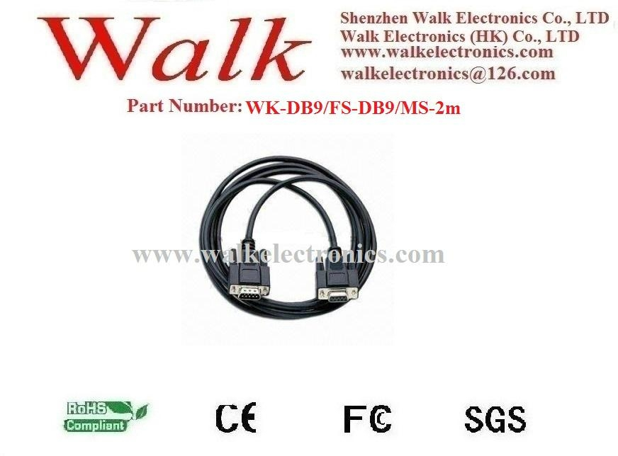 DB9 patch cable, RS232 cable, computer cable, RS232 to RS232 cable, DB9 to DB9