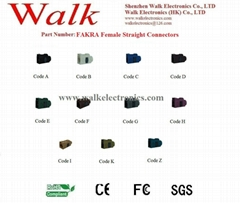 FAKRA Female Straight for RG174, RG316, RG58 cable, antenna connector